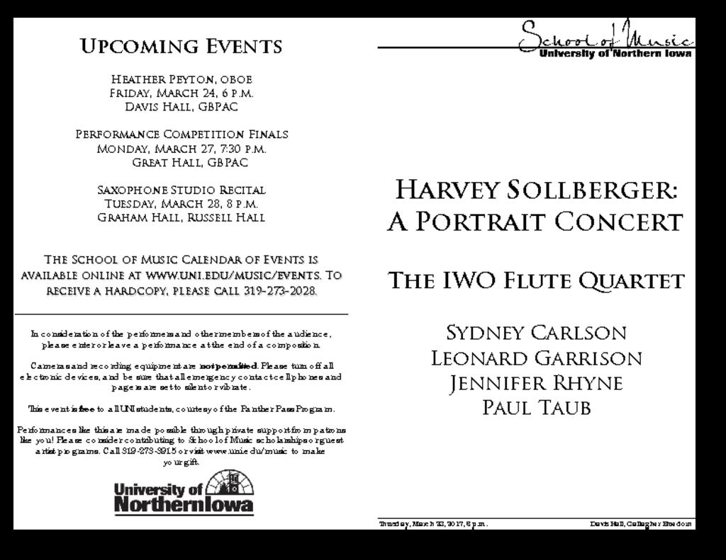 Sollberger for Flutes - March 23, 2017