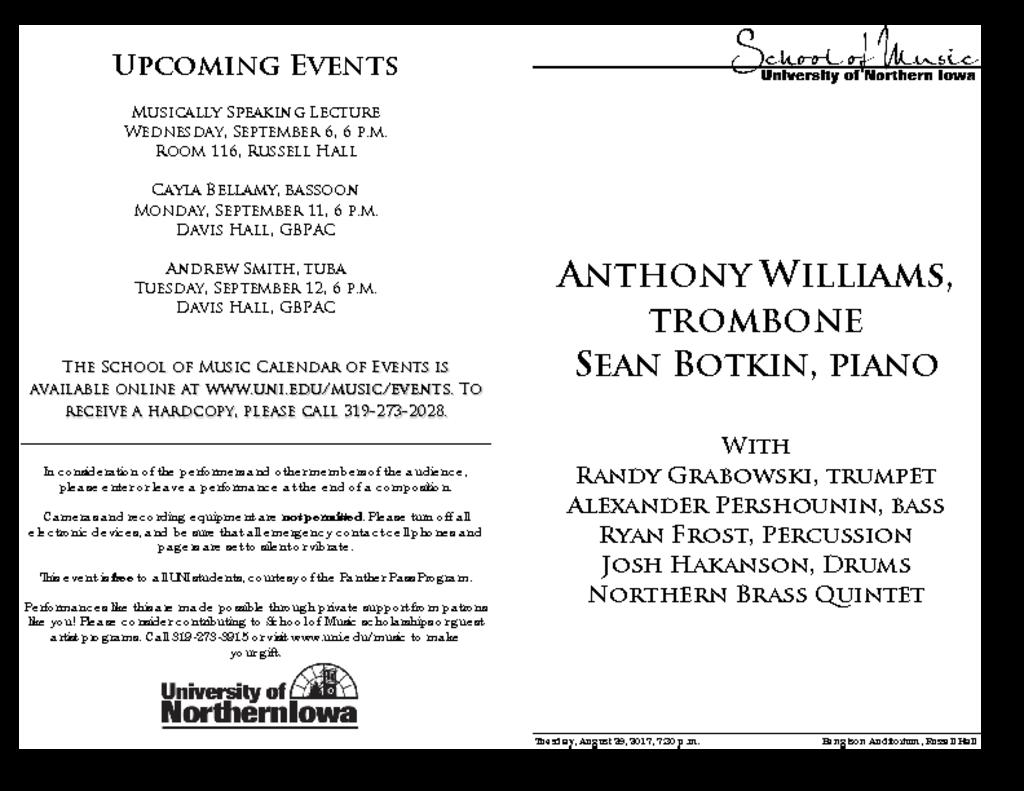 Anthony Williams - August 29, 2017