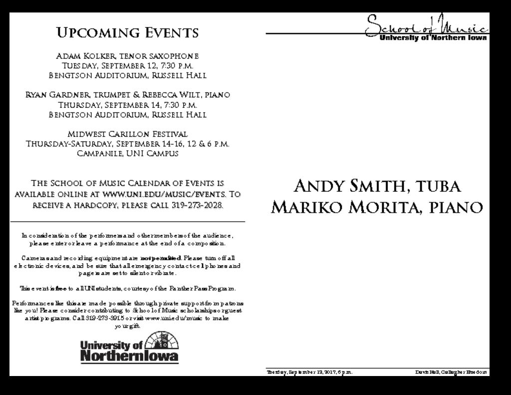 Andy Smith, tuba - September 12, 2017