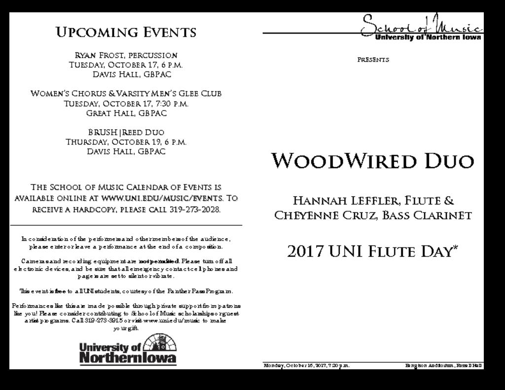 WoodWired Duo - October 16, 2017