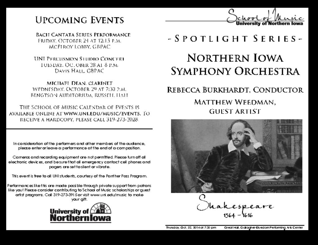 Northern Iowa Symphony Orchestra - October 23, 2014