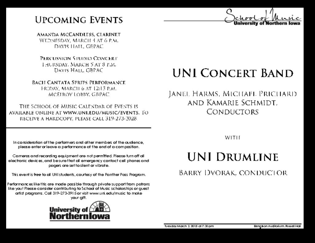 Drumline & Concert Band - March 3, 2015