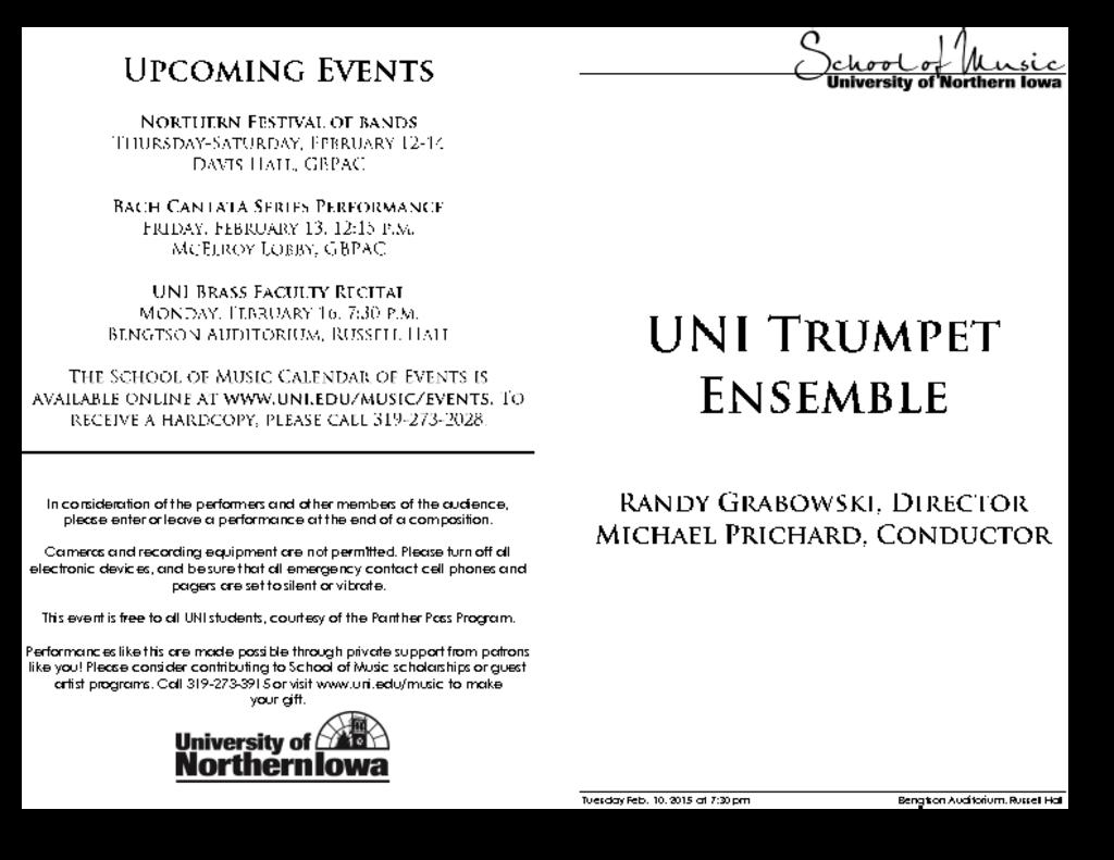UNI Trumpet Ensemble - February 10, 2015