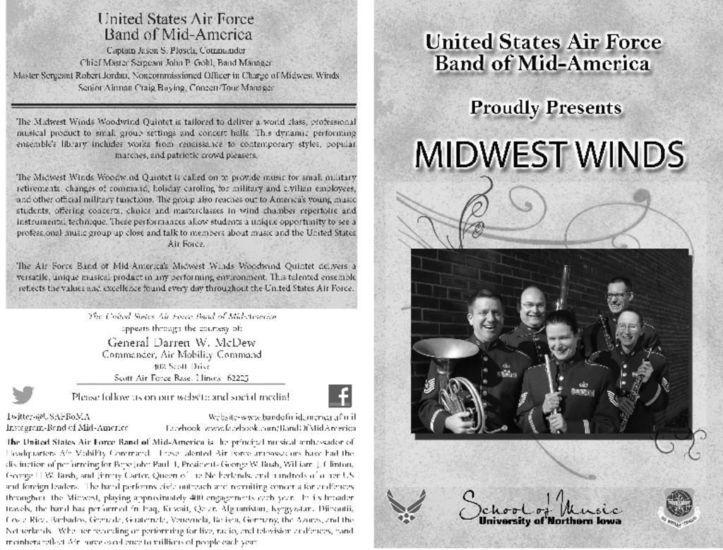 US Air Force Midwest Winds - February 3, 2015