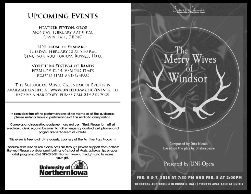 Merry Wives of Windsor - February 4-8, 2015