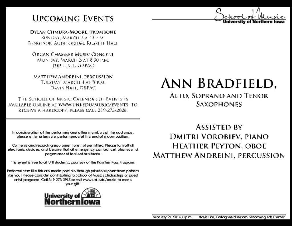 Ann Bradfield - February 27, 2014