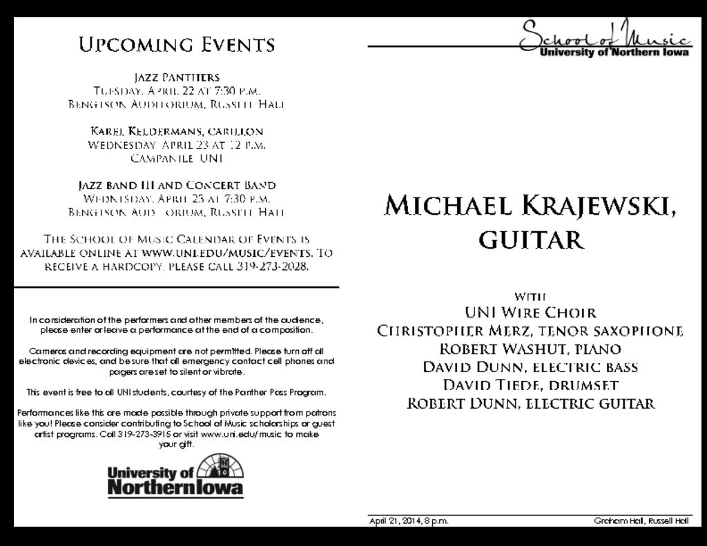 Michael Krajewski - April 21, 2014