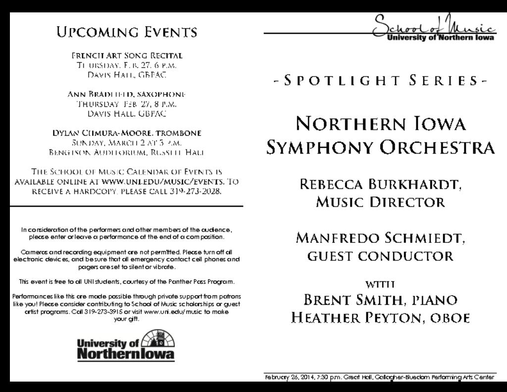 Northern Iowa Symphony Orchestra - February 26, 2014