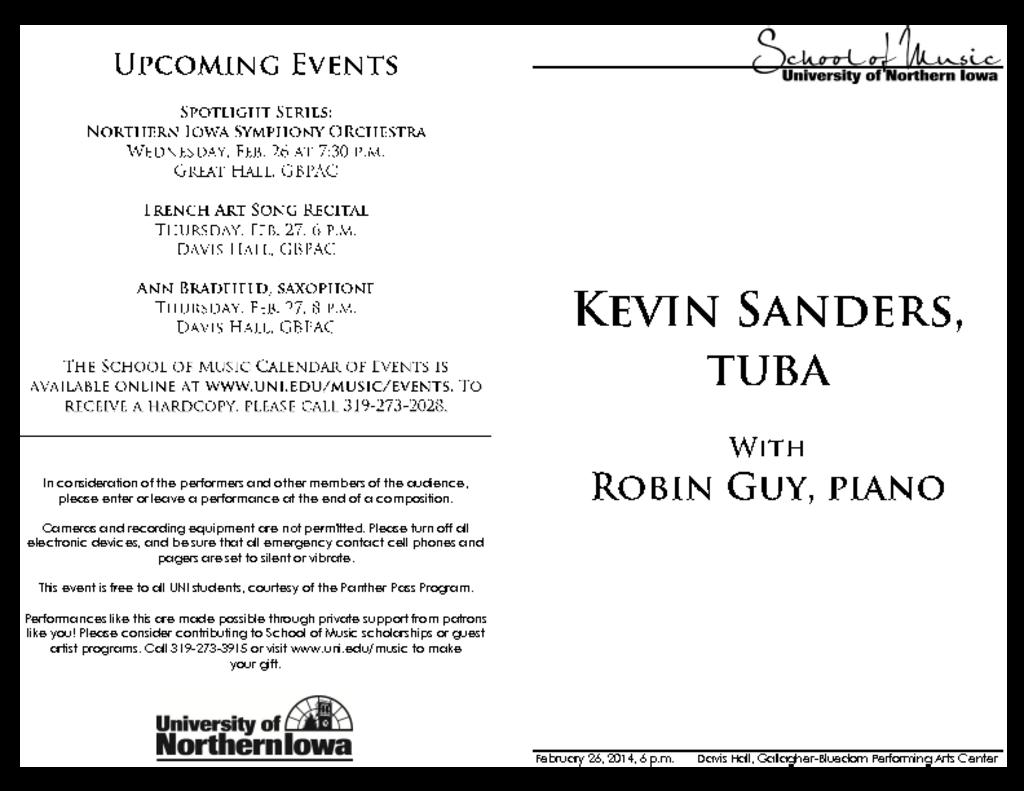 Kevin Sanders - February 26, 2014