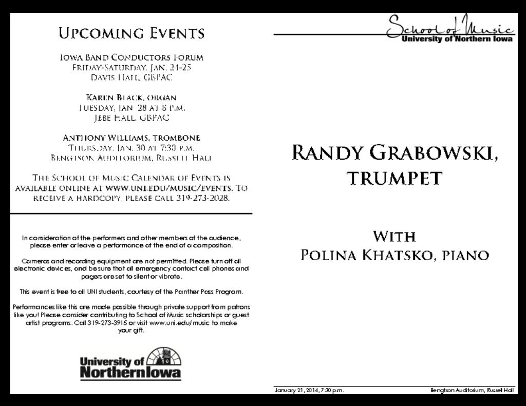 Randy Grabowski - January 21, 2014