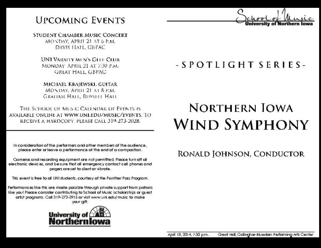 Wind Symphony - April 18, 2014