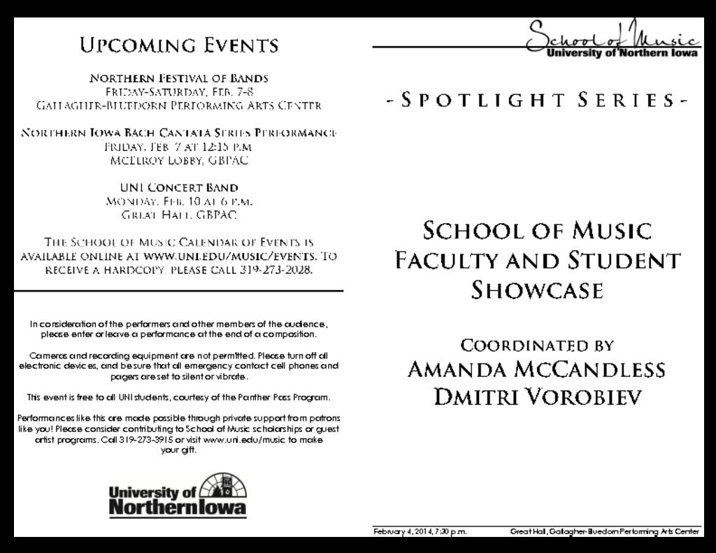 SOM Faculty & Student Showcase - February 4, 2014