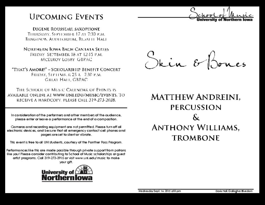 Matthew Andrieni & Anthony Williams - September 16, 2015