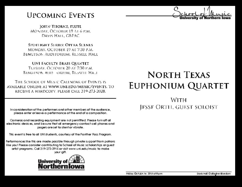 North Texas Euphonium Quartet - October 16, 2015