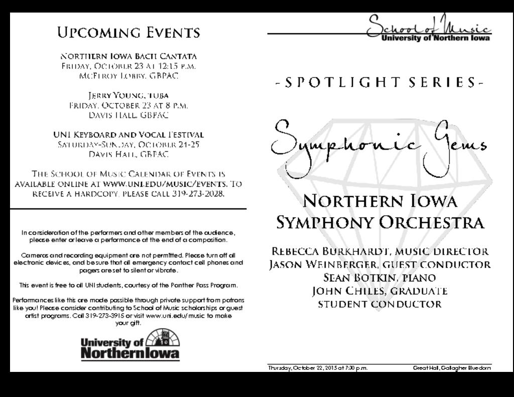 Northern Iowa Symphony Orchestra - October 22, 2015
