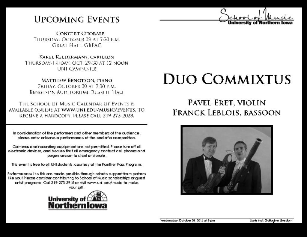 Duo Commixtus - October 28, 2015