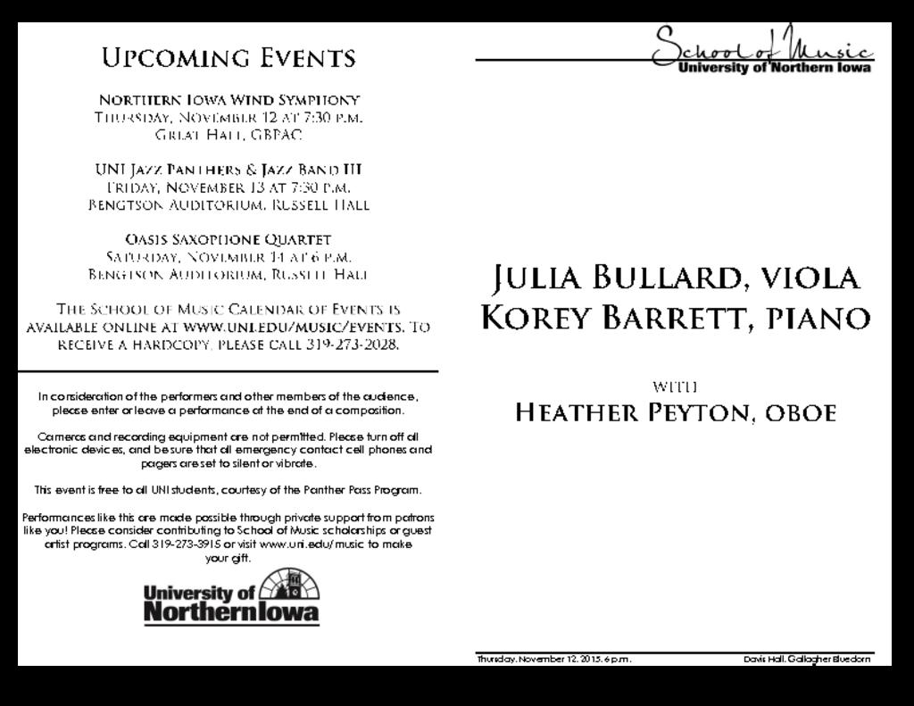 Julia Bullard & Korey Barrett - November 12, 2015