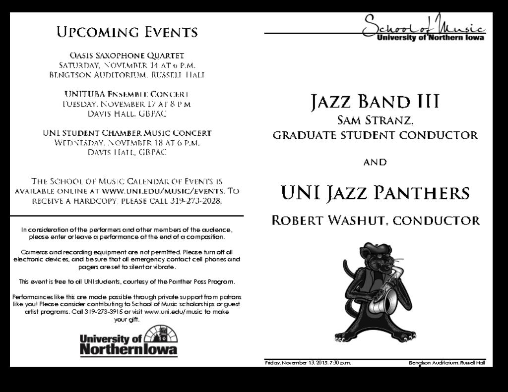 Jazz Panthers & Jazz Band III - November 13, 2015