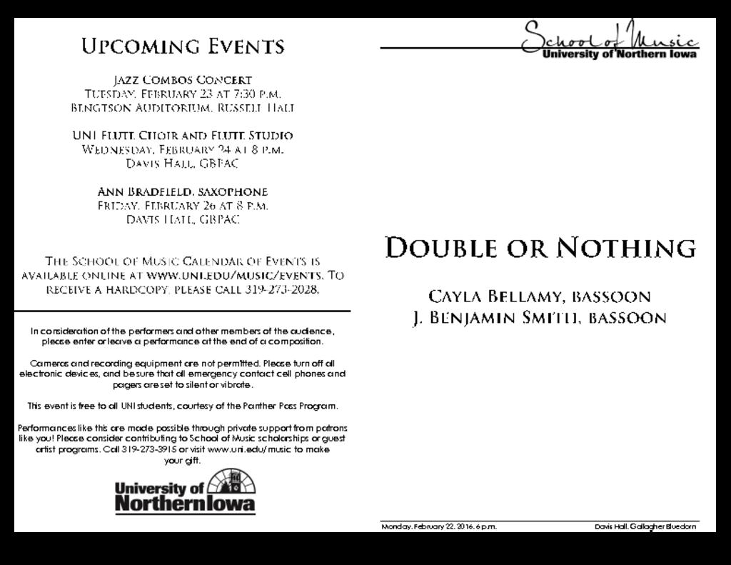 Double or Nothing Duo - February 22, 2016