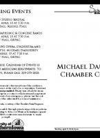 Chamber Works of M. Daugherty - April 17, 2018