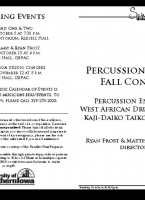 UNI Percussion Studio Concert - October 4, 2018