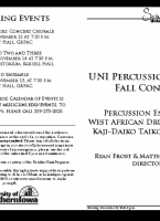Percussion Studio - November 12, 2018