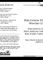 Percussion Studio Concert - February 21, 2019