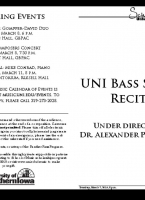 Bass Studio Recital - March 7, 2019