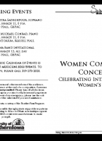 Women Composers Concert - March 8, 2019