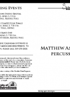 Matthew Andreini, percussion - April 1, 2019
