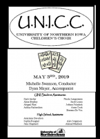 UNI Children's Choir - May 3, 2019