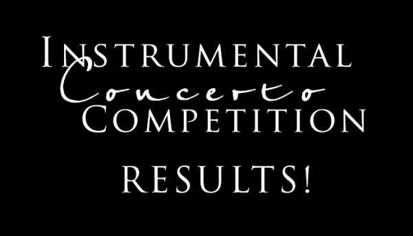 Instrumental Concerto Competition Results