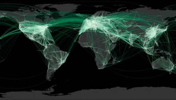 Airplane routes